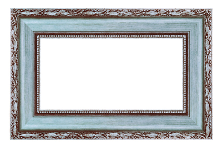 Vintage silver frame on a white background, isolated