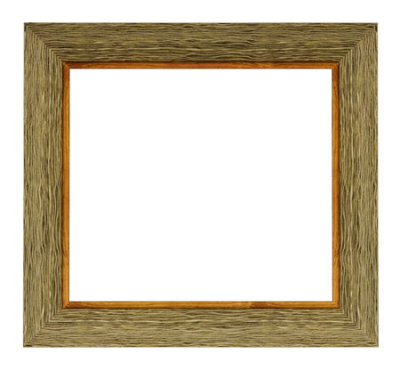 Vintage wooden frame on a white background, isolated