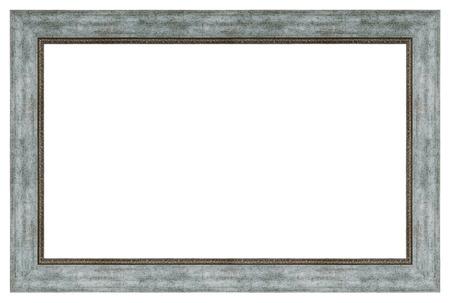 Cornice d'argento vintage su sfondo bianco, isolata