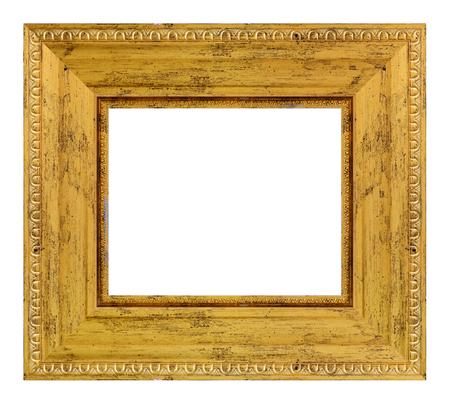 Vintage cadre doré sur fond blanc, isolé