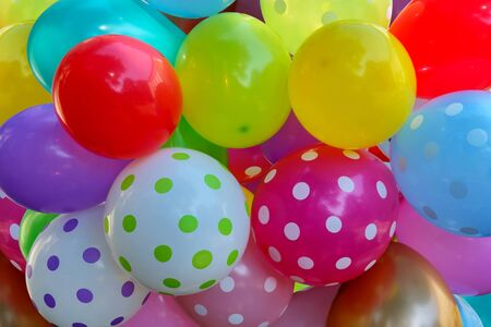 Bunch of colorful balloons, colorful background with baloons