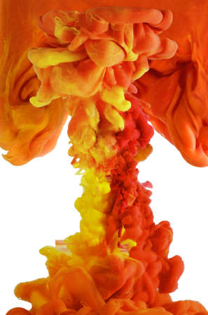The colorful abstract shape splashing, isolated on a white background Banque d'images - 159176862