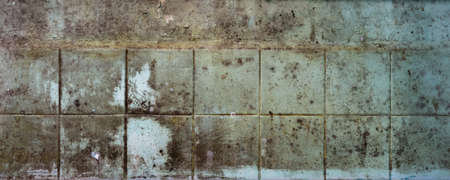 Grunge dirty ceramic small square tiles wall