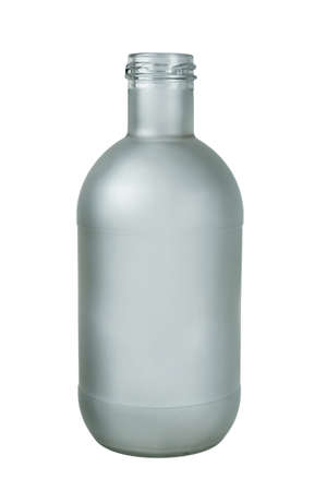 Matt glass bottle isolated on a white background Banque d'images