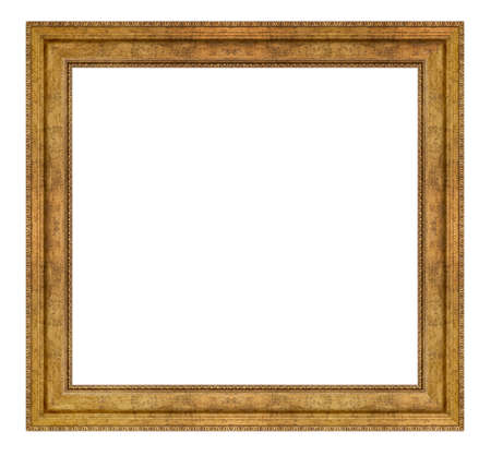 Vintage golden frame isolated on a white background Banque d'images