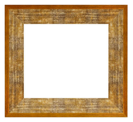 Old vintage golden frame isolated on a white background Banque d'images
