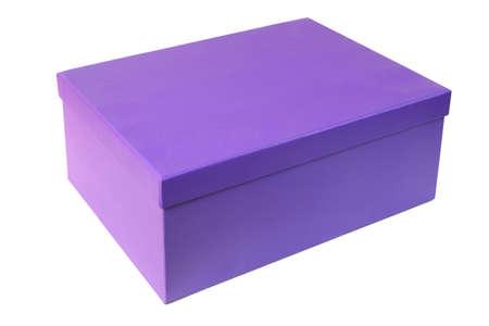 Purple gift box isolated on white background 版權商用圖片