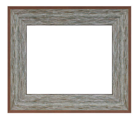 Old style vintage gray frame isolated on a white background