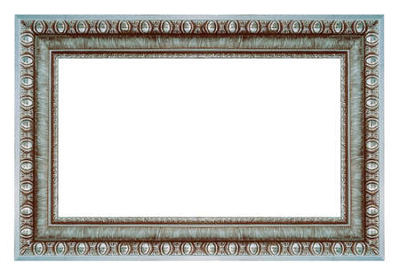 Vintage silver frame isolated on a white background