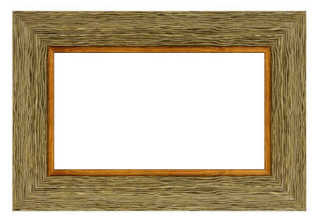 Old style vintage green frame isolated on a white background