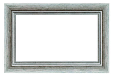 Old style vintage silver frame isolated on a white background