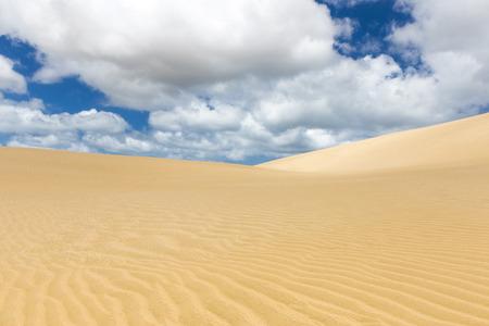 Sandy dunes under low clouds 版權商用圖片