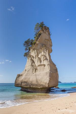 Bizarre rock on a beach