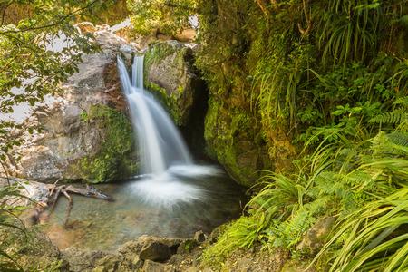 Sharplin falls in Canterbury region, South Island of New Zealand 版權商用圖片