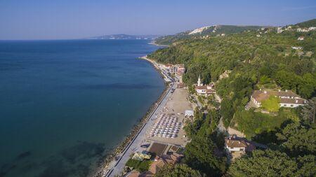 Aerial view of Balchik, Bulgaria