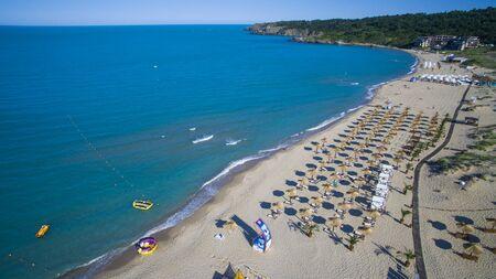A beach at the Black sea, Bulgaria Editorial