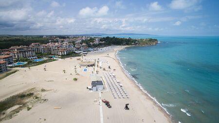 Aerial view of Oasis beach, Bulgaria Stock Photo