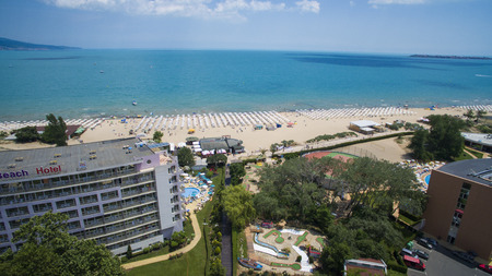 Aerial view of Sunny Beach, Bulgaria