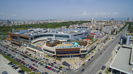 Aerial view of Paradise Mall, Sofia, Bulgaria Editorial