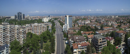 Aerial view of Lozenets district, May 6, Sofia, Bulgaria