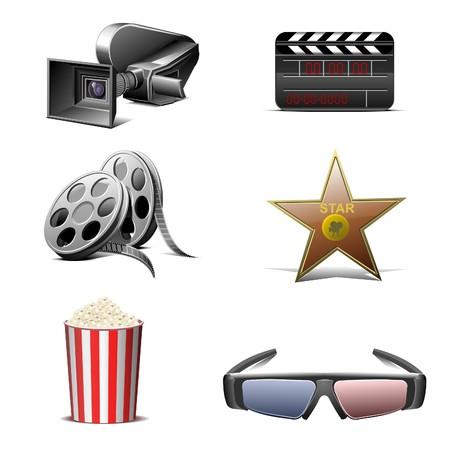 cinematography  icons set Illustration