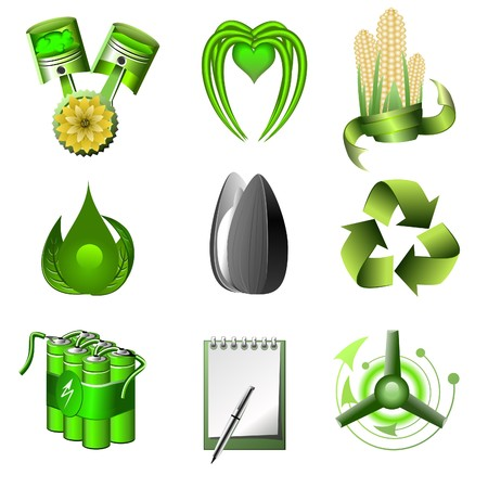 ecology and green energy  icons set part 2