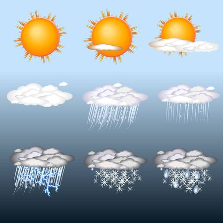 weather  icon set Stock Vector - 7710133
