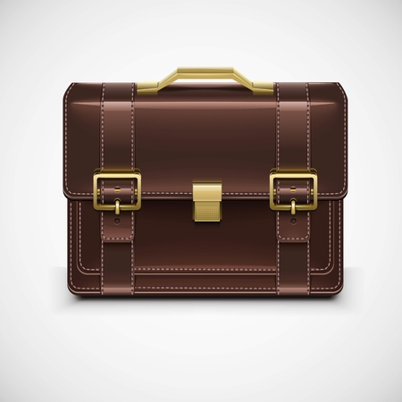 isolated single briefcase vector Illustration