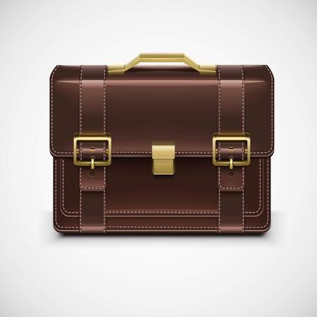 brief case: isolated single briefcase vector Illustration