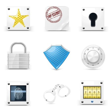 defense vector icons Stock Vector - 14850430