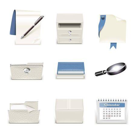 document vector icon set Illustration