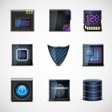 electronic guide: electronic devices vector icons