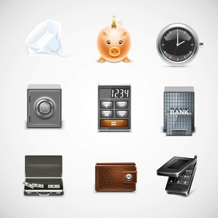 finance vector icon set Vector