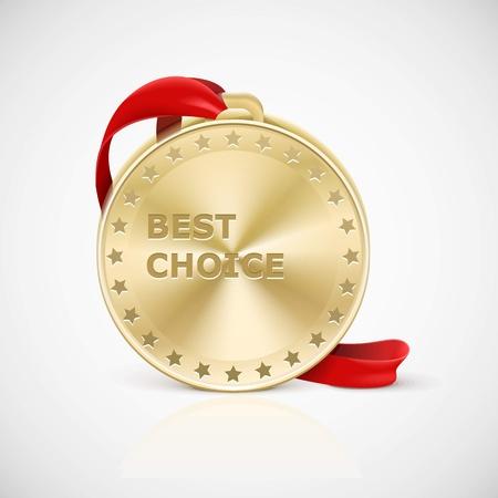 gold medal: golden medal isolated Illustration