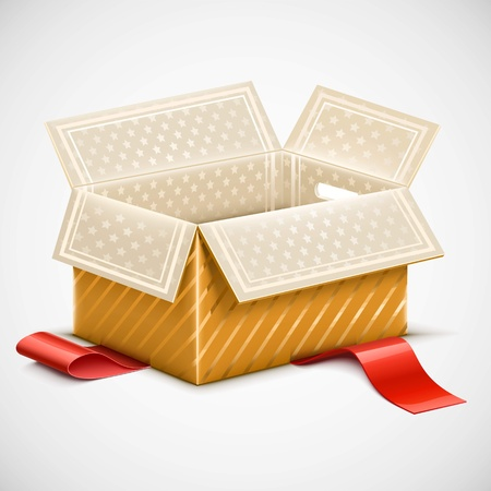 isolated opened box vector