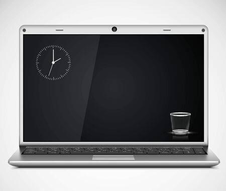 vector laptop isolated Illustration