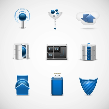 networking universal vector icon set Vector