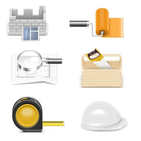 repair and building vector icon set Vector