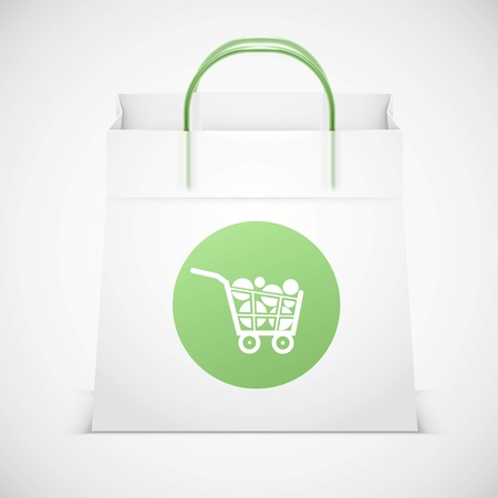 shopping bag vector icon isolated Illustration