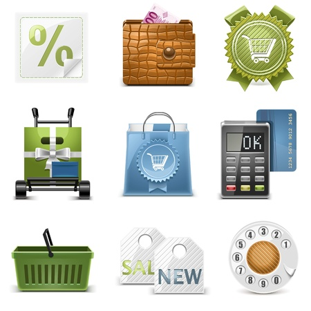 shopping vector icons Vector