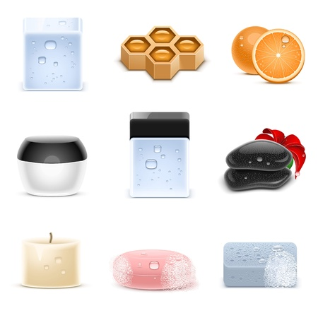 spa and beauty vector icons Illustration