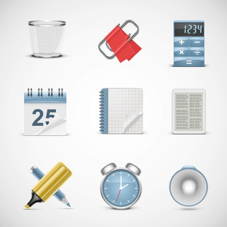 universal office vector icon set Vector