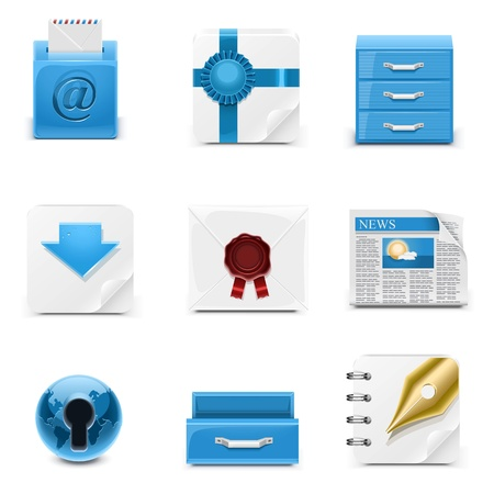 universal web icons Stock Vector - 14850431