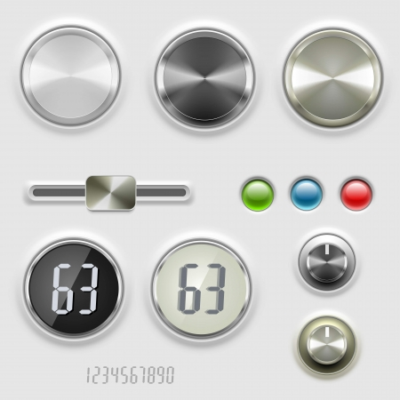 vector dials volume control Stock Vector - 14850455