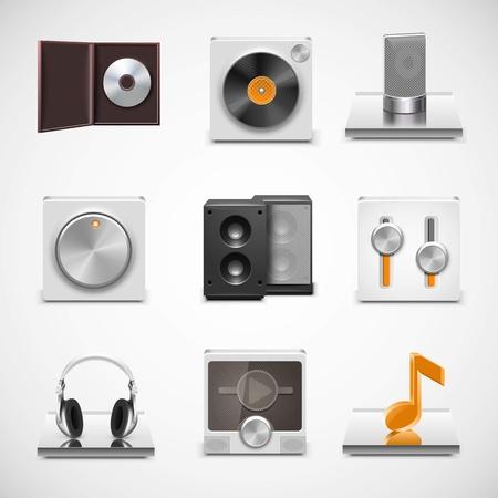 sound system: iconos de la m�sica del vector Vectores