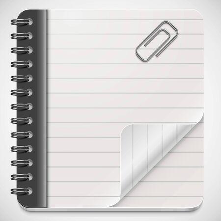 vector blank notepad Illustration