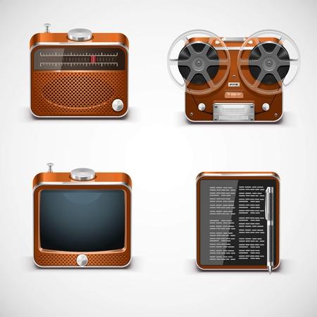 vintage electronics vector  Illustration