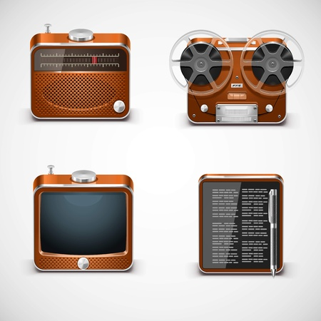 vintage electronics vector Stock Vector - 14850456