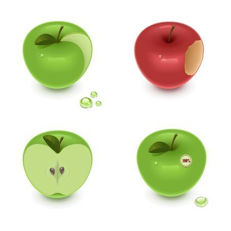 xxl icon: Apples on a white background Illustration