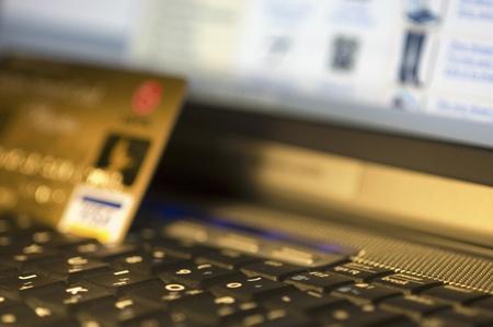 creditcard: laptop with creditcard
